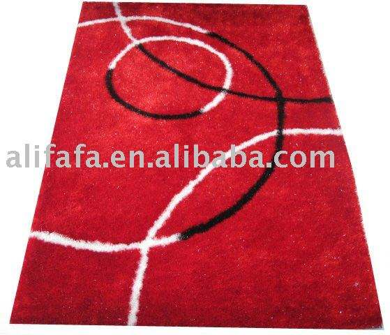 <span class=keywords><strong>Tapis</strong></span> <span class=keywords><strong>shaggy</strong></span> <span class=keywords><strong>rouge</strong></span> <span class=keywords><strong>tapis</strong></span> intérieur avec un design moderne, 100% polyester fil mince