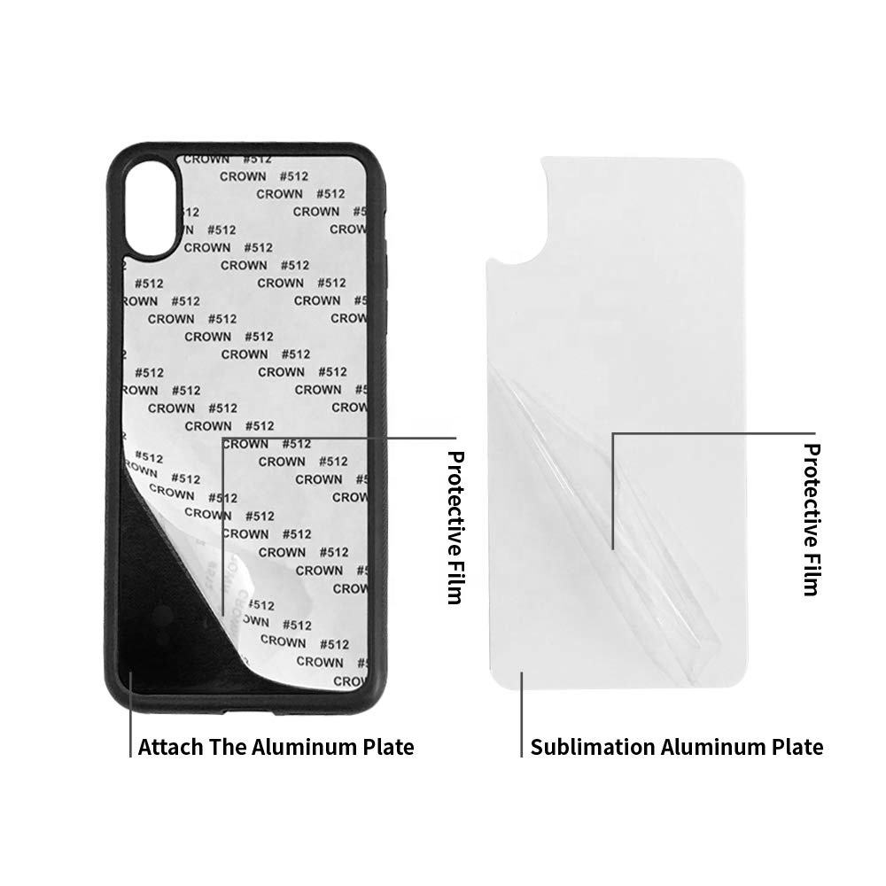 5PCS Sublimation Blanks Phone Cases Covers for iPhone Xs Max 6.5 Inches Make Your Own Personalize Phone Cases