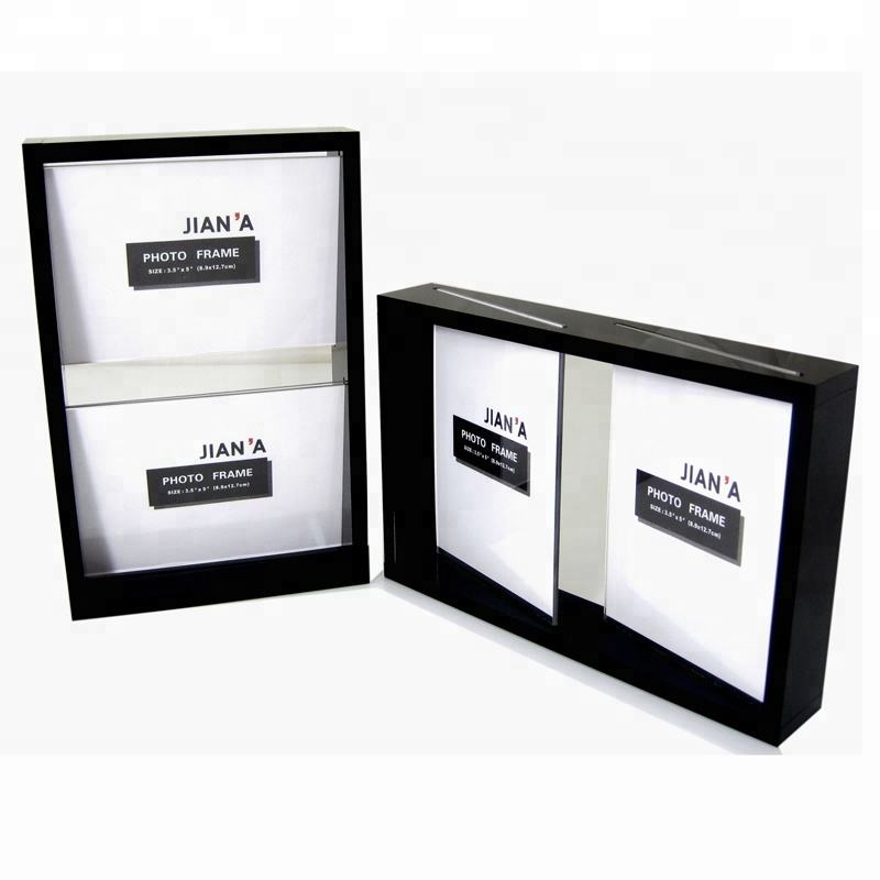 Exclusive design double sides acrylic photo frame 4 x 6 inch