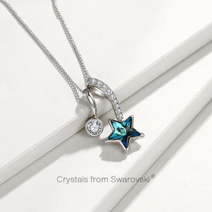 N190222 xuping 스타 (energy star) 목걸이 결정 from Swarovski, 925 sterling silver color 숙 녀 인공 광주 fashion jewellery