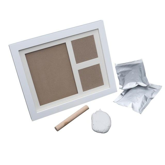 Newborn Baby Inkless Footprint Handprint Photo Frame Kit with Clay