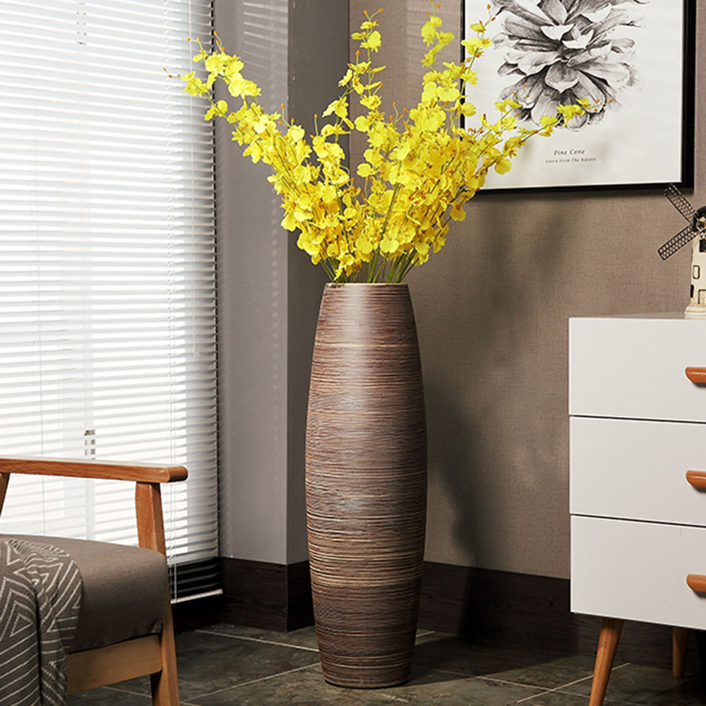 European style originality modern sitting room decor brown giant floor ceramic vase
