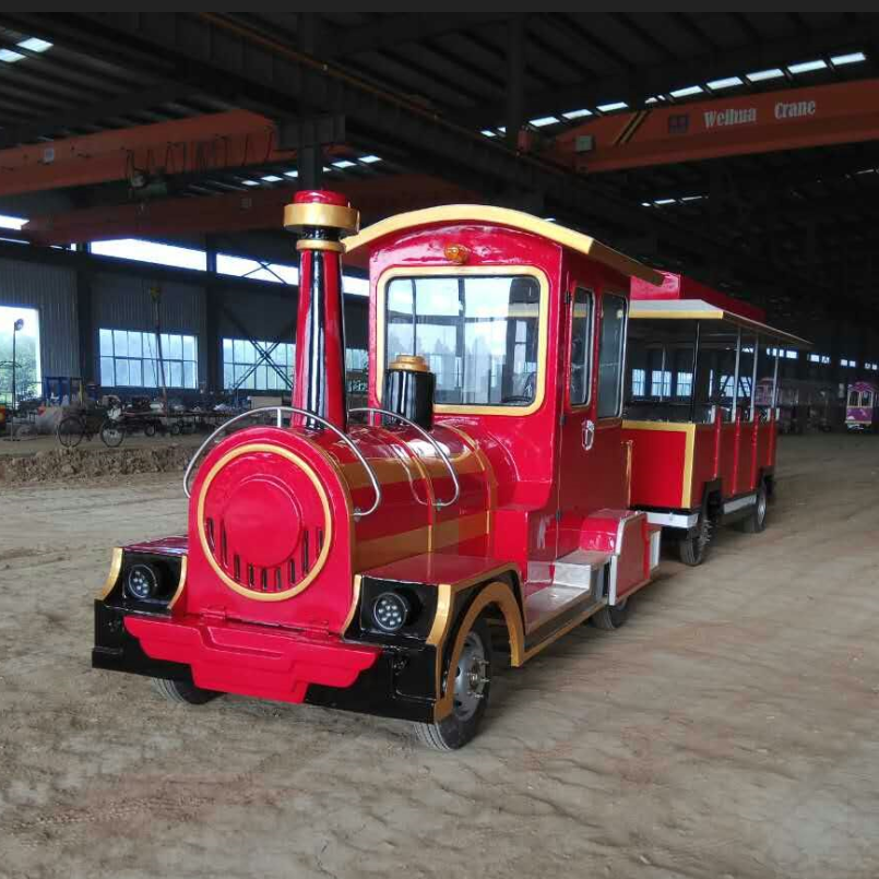 2019 Hot Sale Classical Amusement Park Kids Rides Trackless Electric Tourist Train For Sale