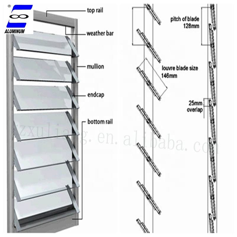 china manufacture suppliers glass louver shutter