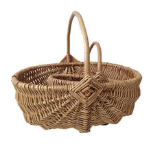Willow Pick Baskets Flower Plant Pots Wholesale Storage Wicker Basket Handle Christmas Gift