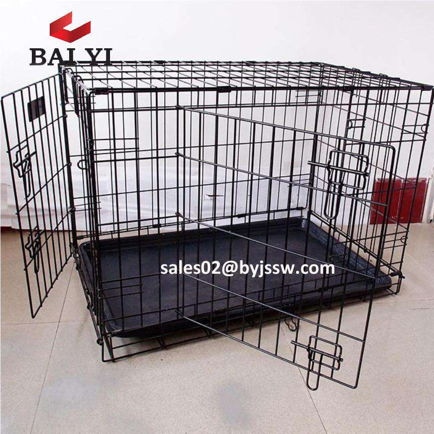 24 30 36 42 48 inch portable wire folding pet crate dog cage