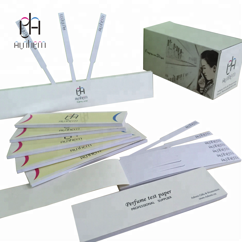 Perfume test paper OEM perfume strip sniff test paper with LOGO print, M-1061