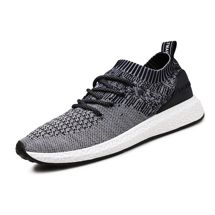 cheelon shoes 2018 fashion spring summer lace up casual walking flat knit sport sock shoes men