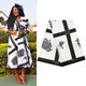 U163 Queency Spandex Textile Cotton Polyester African Wax Printed Fabric in Black and White