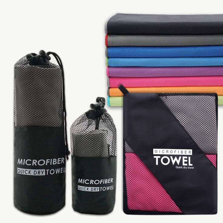 dry fit sport towel portable sport towel microfiber with mesh bag quick drying gym towel