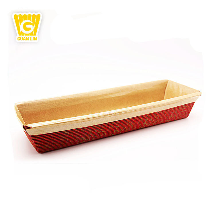 Wholesale Professional Certified Rectangular mini bread disposable paper loaf pan