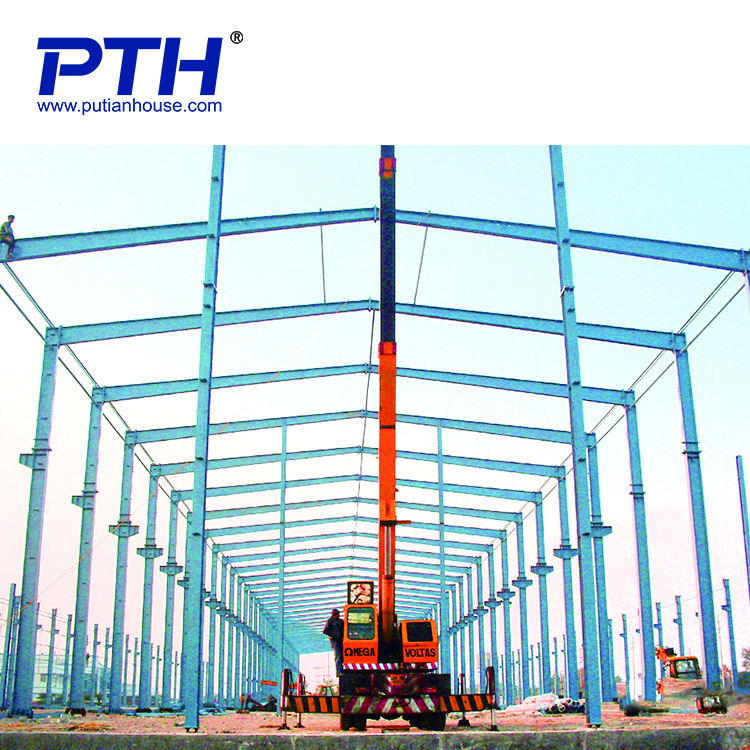 China supplier Factory Prefabricated Steel Structure Building Workshop warehouse with GB steel material