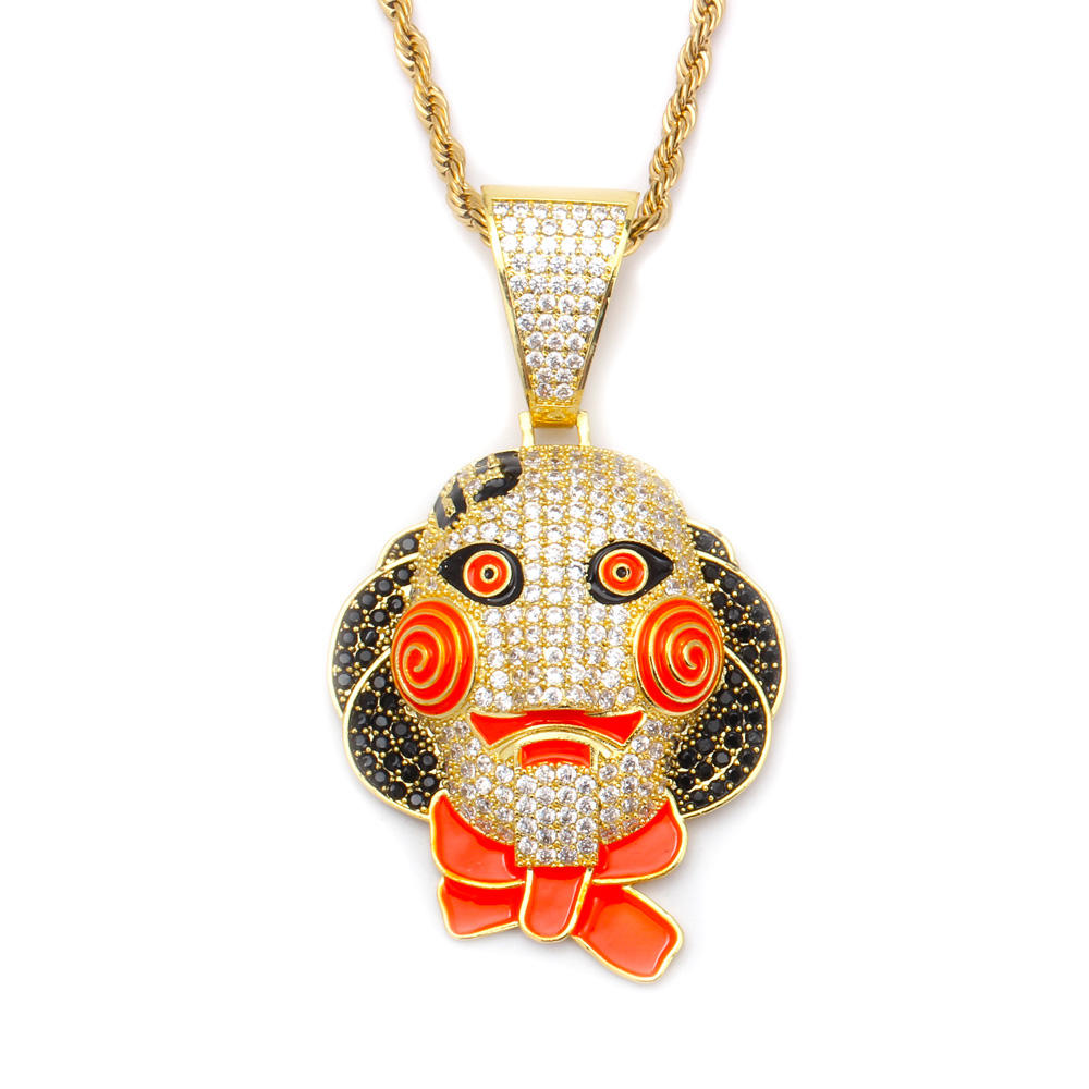 Funny interesting cute Clown pendant Necklace jewelry for wen or women