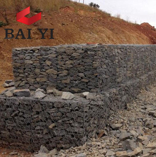 China direct factory wholesale Welded gabion / garden gabion landscape / stone cage retaining wall