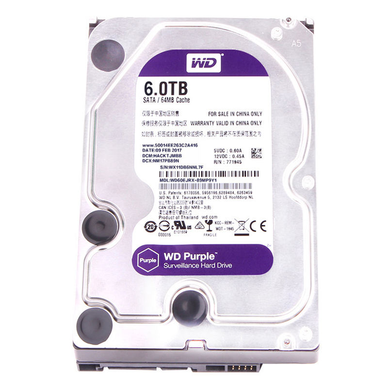 west data external hard disk drive 6TB model WD60EJRX with 3.5inch sata port
