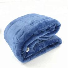 wholesale 100% polyester edredones flannel and sherpa solid color filled comforter