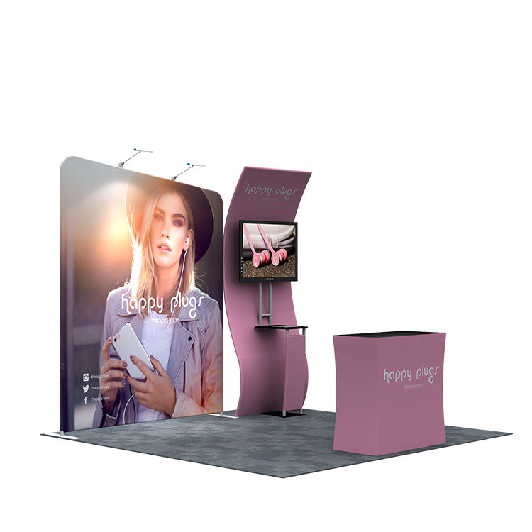 Custom printing Tradeshow Display Stall 3x3 standard Size Exhibition Stand Booth