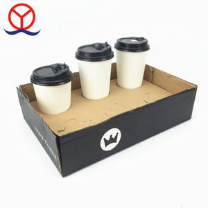 Custom design corrugated carton cmyk printing to go used coffee take away box