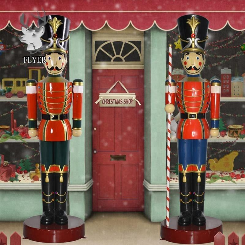 Life size fiberglass christmas nutcracker soldiers for sale