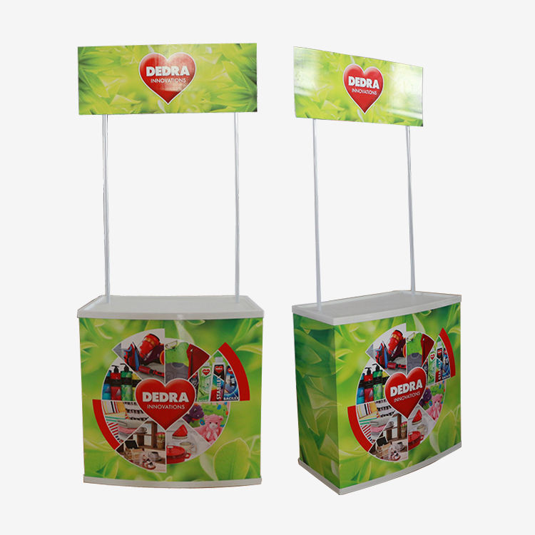 Portable Promotional Counter Marketing Display Stand for promoting and marketing at shopping centers