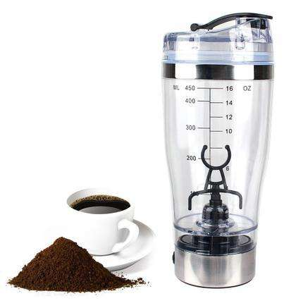 Battery Powered electric Protein Shaker Bottle electric coffee mixer milk bottle approved CE