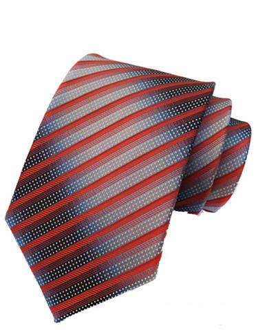 Wholesale striped polyester mens necktie to match shirt