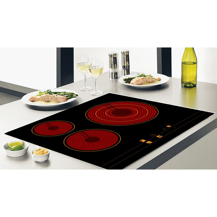 Kitchen Appliances Triple Burner Ceramic Cooker Hob With Certified PCB Elements