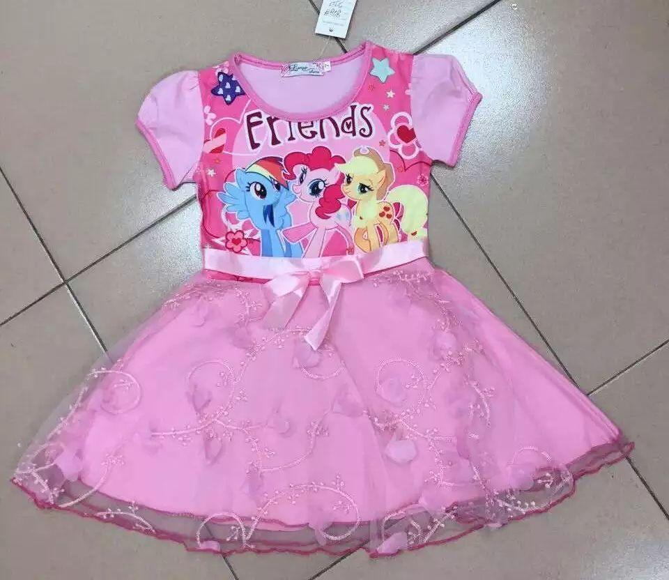 Crianças vestido de renda congelado Elsa princesa Anna vestido saia