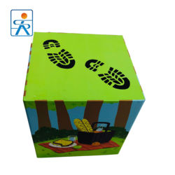 Wood toy multi color custom cheap children educational gift packing paper cube stacking boxes kids cardboard block