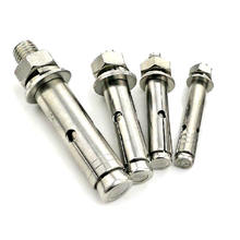 High quality low price expansion sleeve anchors bolt l type washer and hex nut