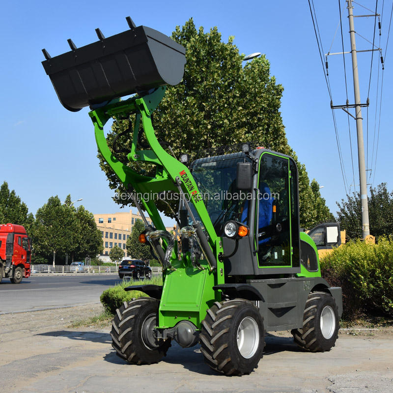 New design ZL08F four wheel drive Mini wheel Loader with CE