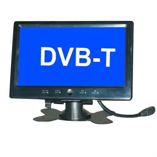 7 polegada magro digital TV built in DVB-T avtomobil TV