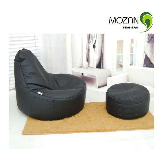 Bean bag chairs stool set with high back Leather bulk
