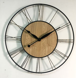 Customized new design handmade decorative retro vintage quartz metal wall clock for home decoration