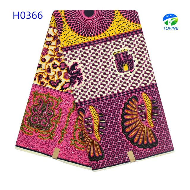 Hitarget african wax print fabric multicolor 100% cotton fabric for nigeria women