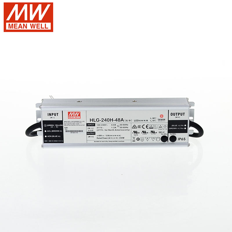 HLG-240H-48A 110 V/220 V AC Sampai 48 V DC 5A 240 W IP65 PFC LED Driver CE Switching power Supply Mean DC Power Supplies