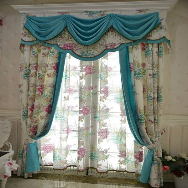 Hotel Used Jacquard Printed Cotton Office Window Curtain