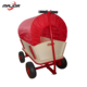Foldable 4 wheel wooden kids serving garden toy wagon cart With seat and red canopy