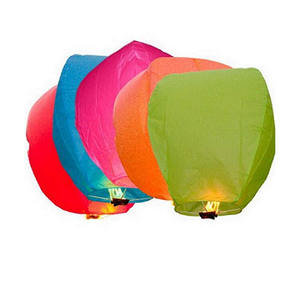 Wholesale OEM Colorful 100% Biodegradable Festival Kongming Flying Sky Lantern