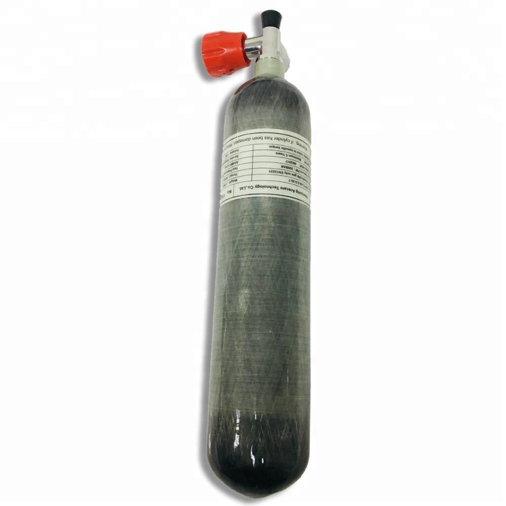 300bar 4500psi 2L carbon fiber cylinder with valve for pcp paintball tank or scuba diving tank