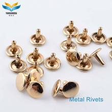 factory wholesale custom metal brass studs rivets for bags