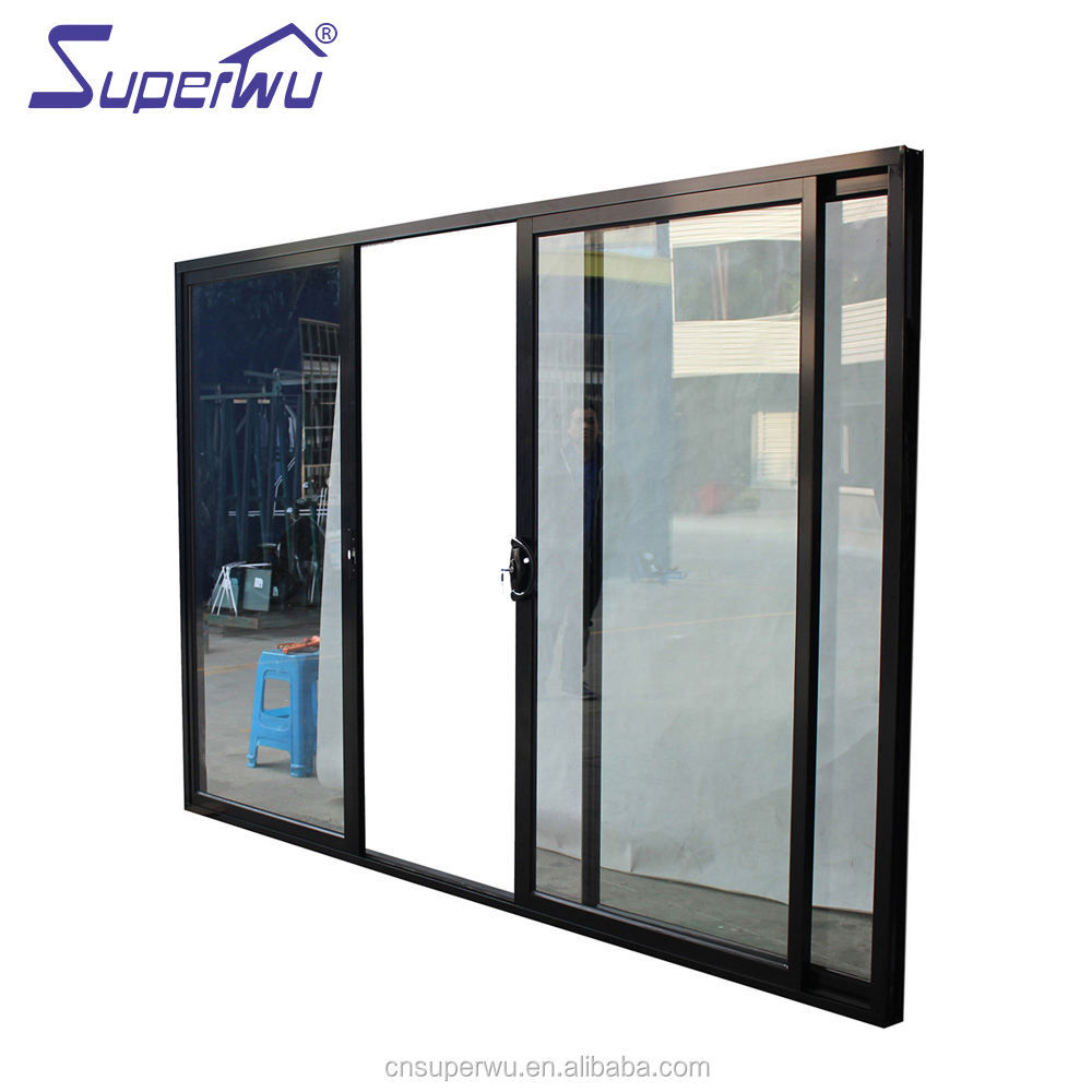AU/NZ/USA Standard Building Material Aluminum sliding door double Glass door
