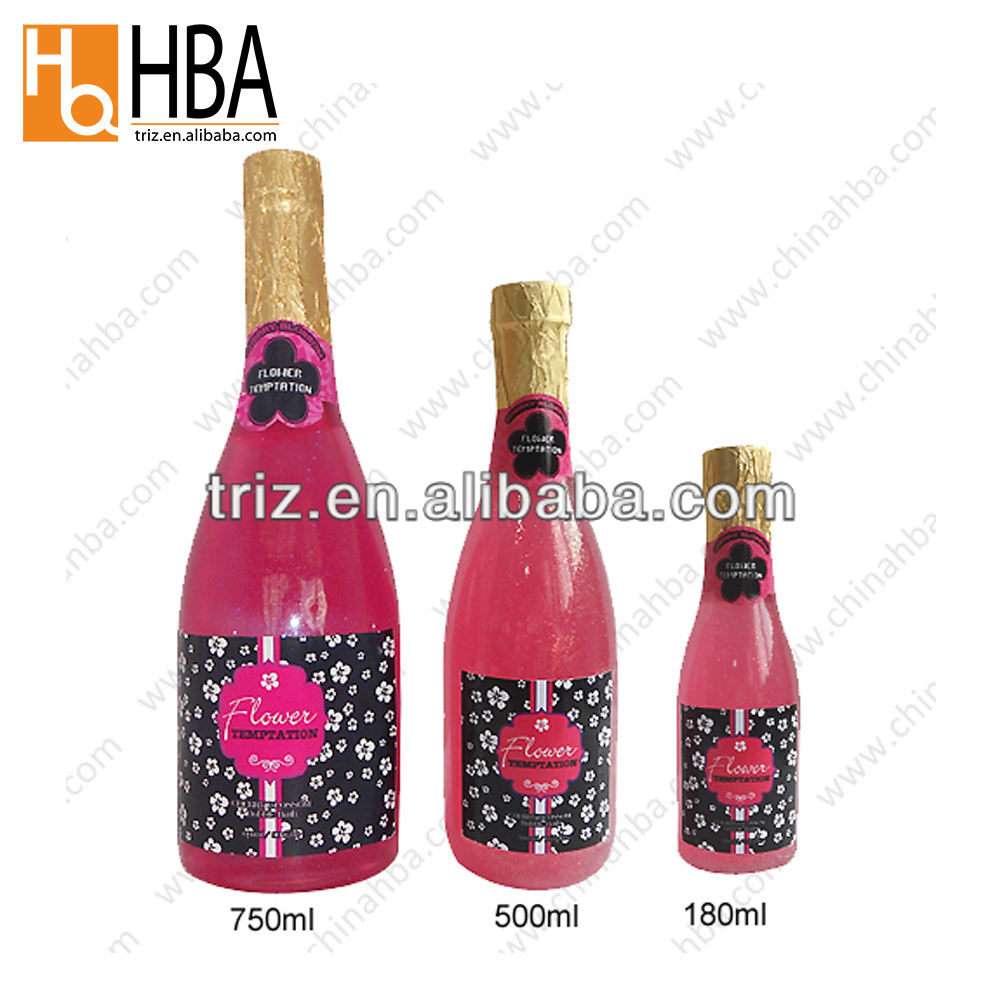 China wholesale bulk champagne bottle clear spa liquid bubble bath
