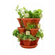 Plastic vertical hydroponics stacking growing pots