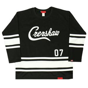 Custom design sublimated ice hockey jersey tackle twill jersey stitched embroidered hockey jerseys