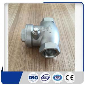 Standard thread class 300 cf8m swing check valve supplier