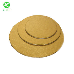 silver foil cake boards/cheap paperboard round shape gold
