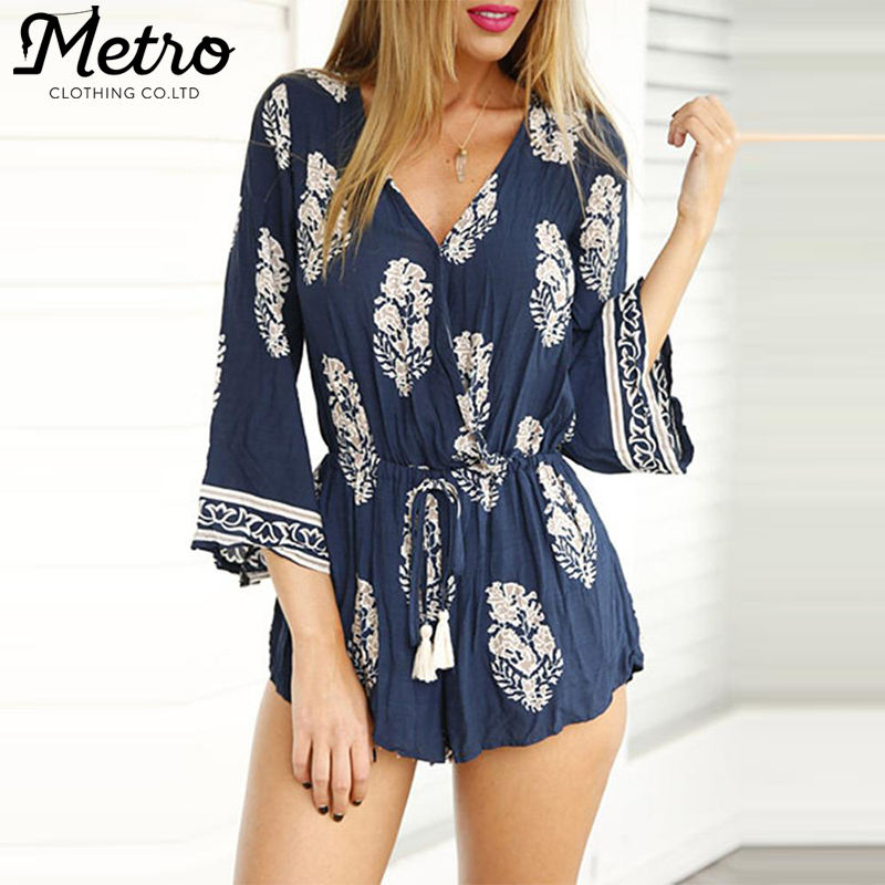 Clothing Manufacturers Vintage Flare Bell Sleeve Romper