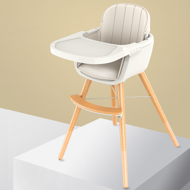 Luxury design wooden high back chair feeding chair for kids