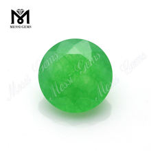 Wholesale Round Gemstone Beads Green Jade Stone